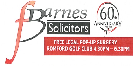 Free Legal Pop-Up Sessions By F Barnes Solicitors tickets