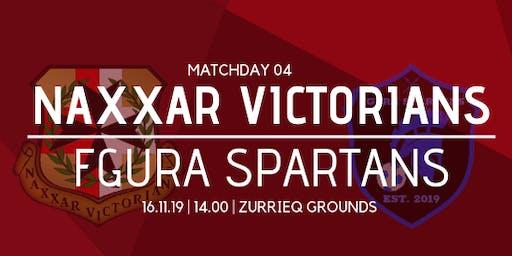 Matchday 04: Naxxar Victorians vs Fgura Spartans