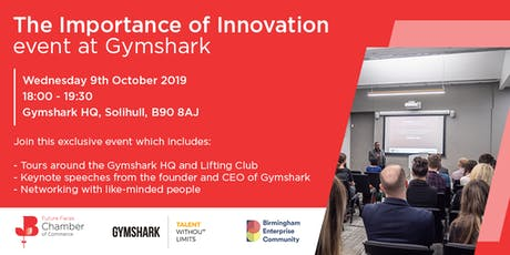 The Importance of Innovation at Gymshark tickets