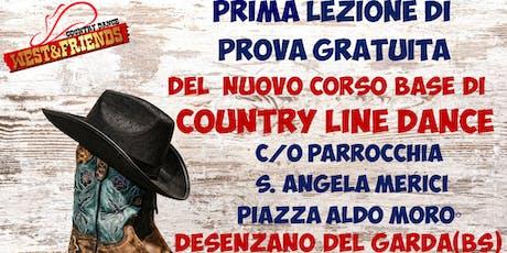 LEZIONE DI PROVA GRATUITA A DESENZANO (BS) - COUNTRY LINE DANCE biglietti
