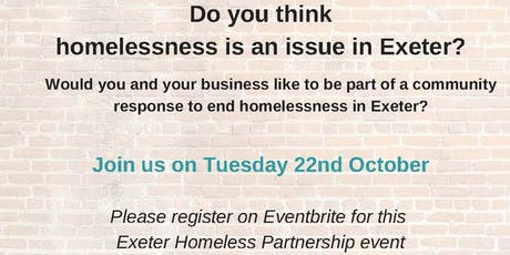 Exeter Homeless Partnership: Business engagement evening tickets
