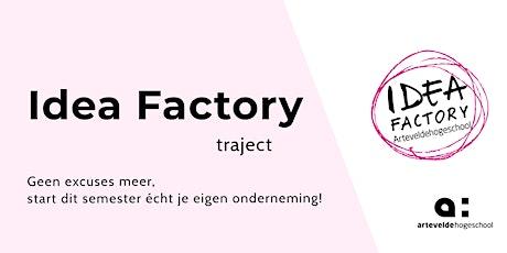 Idea Factory Traject | Workshop 4 tickets