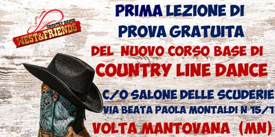 LEZIONE DI PROVA GRATUITA A VOLTA MANTOVANA (MN) - COUNTRY LINE DANCE