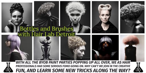 Bottles and Brushes with Hair Lab Detroit