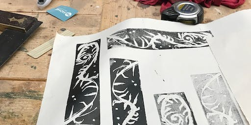 Print making workshop No. 3. Part of the 'Seven' Art Exhibition