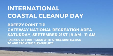 Volunteers Needed: Beach Cleanup at Breezy Point Tip tickets