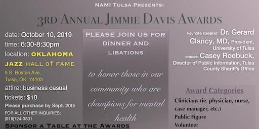 NAMI Tulsa Presents:  3rd Annual Jimmie Davis Awards Dinner