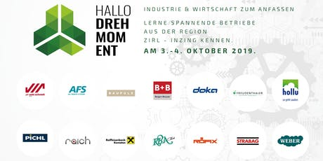 Hallo Drehmoment Open Day - Industrie & Gewerbe zum Anfassen Tickets