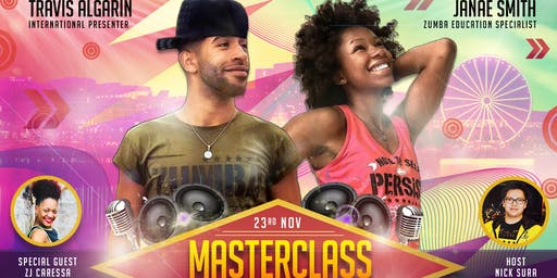 International presenter Travis and ZES Janae Masterclass
