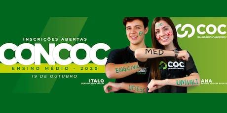 CONCURSO DE BOLSA - ENSINO MÉDIO 2020  COC BALNEÁRIO  ingressos