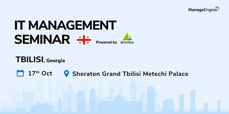 ManageEngine IT Management Seminar - Gerogia tickets