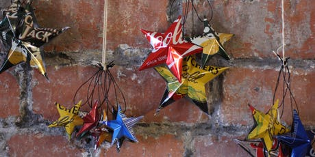 Make your own eco Chrismas decoration tickets