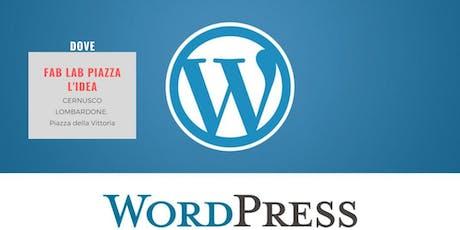 Corso base su WordPress biglietti