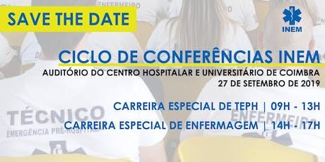 Ciclo de Conferências Internas INEM bilhetes