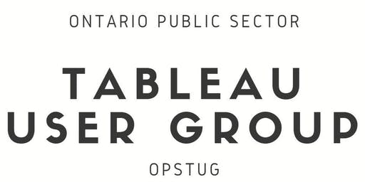 Ontario Public Sector Tableau User Group