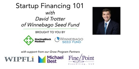 October Startup Financing 101 with David Trotter of The Winnebago Seed Fund tickets