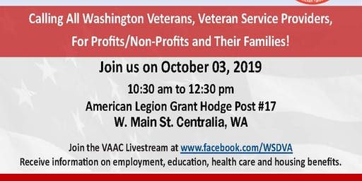 Veterans Town Hall - Centralia - Governor's Veterans Affairs Advisory Committee (VAAC)
