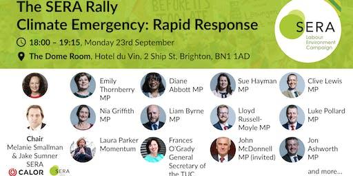 The SERA rally: climate emergency, rapid response