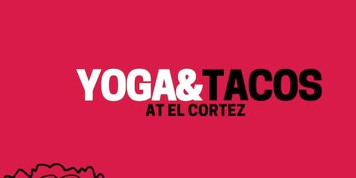 YOGA & TACOS in the Tequila Cellar at El Cortez