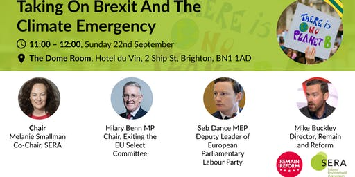 Taking on Brexit and the climate emergency