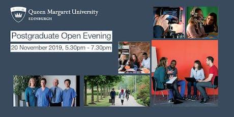 Queen Margaret University, Edinburgh - Postgraduate Open Evening  tickets