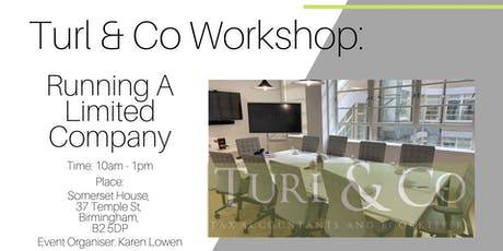 Running A Limited Company Workshop. tickets