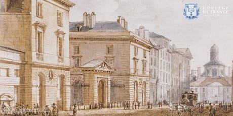 Conférence : « Le Collège de France, lieu de mémoire parisien » billets
