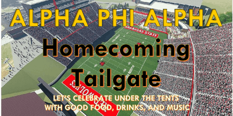 ALPHA PHI ALPHA HOMECOMING 2019 TAILGATE tickets