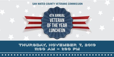 San Mateo County Veterans Commission Fourth Annual Veteran of the Year Award Luncheon billets