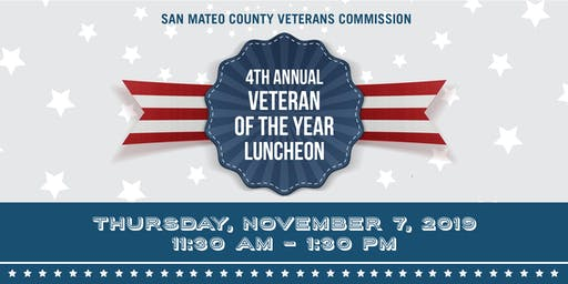 San Mateo County Veterans Commission Fourth Annual Veteran of the Year Award Luncheon