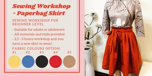 Sewing Workshop – Skirt with Paperbag Waist for your...