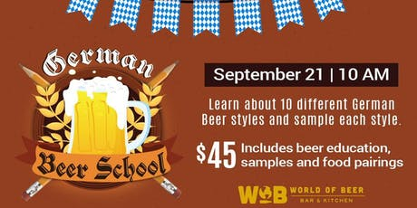 WOB German Bier School tickets
