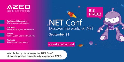 [Paris] .NET Conf 2019 - Watch Party / Soirée Portes Ouvertes AZEO
