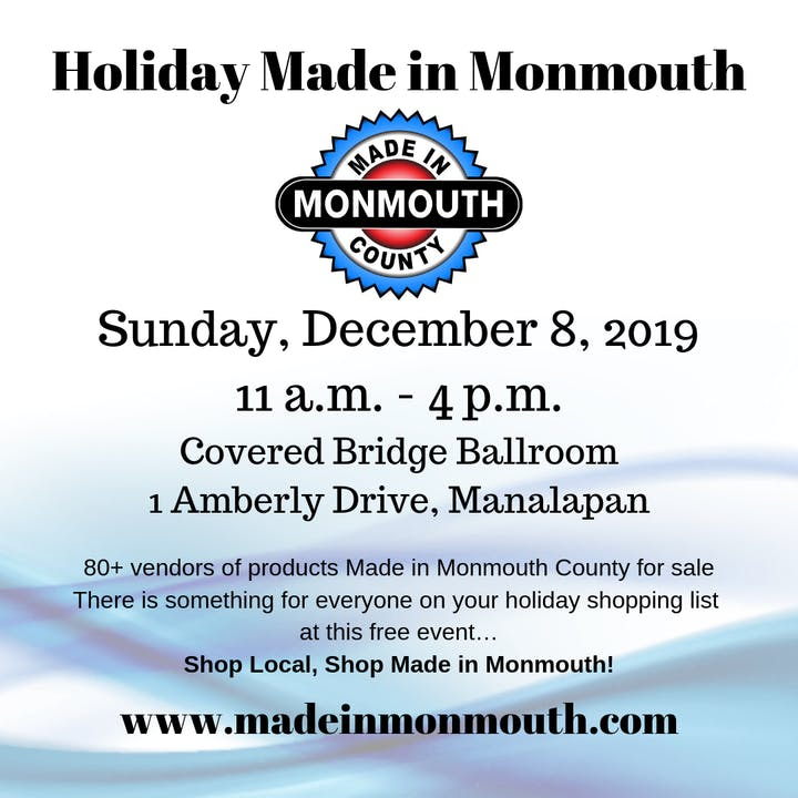 Holiday Made in Monmouth Tickets, Sun, Dec 8, 2019 at 11:00