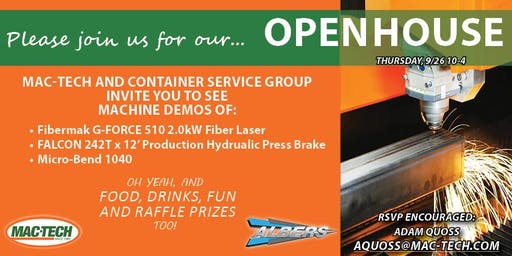 Mac-Tech & Container Service Group Open House