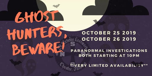Ghost Hunters, Beware!