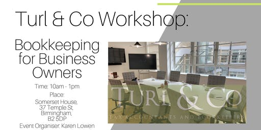 Bookkeeping for Business Owners Workshop.