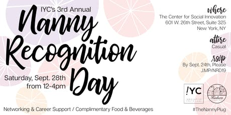 Nanny Recognition Day 2019 Hosted by IYC and Hudson Staffing  tickets