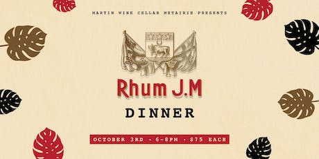 Rhum J.M Dinner tickets