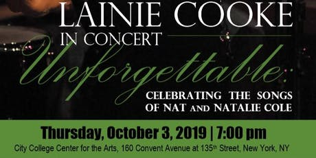LAINIE COOKE IN CONCERT - THE SONGS OF NAT & NATALIE COLE tickets