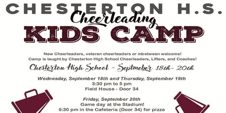 2019 Chesterton High School Cheer Boosters Kids Camp tickets