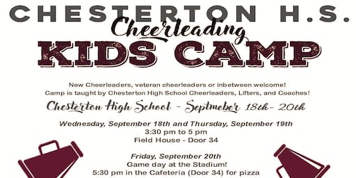 2019 Chesterton High School Cheer Boosters Kids Camp