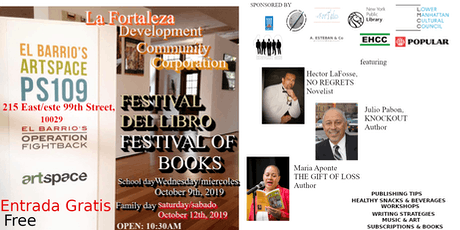 EL FESTIVAL DEL LIBRO/Festival of Books 2019 tickets