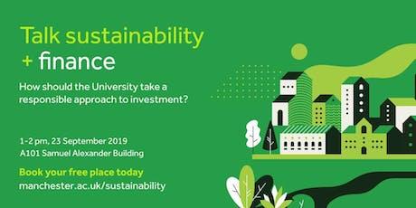 Sustainability Seminar Series - Finance tickets