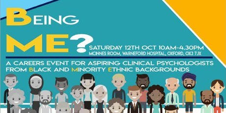 Being Me? A careers event for aspiring clinical psychologists from black and minority ethnic backgrounds tickets