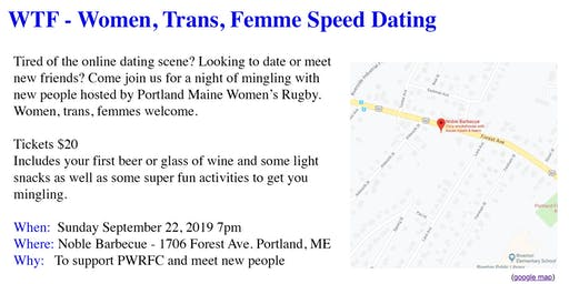 Queer Speed Dating Hosted by Portland Women's Rugby