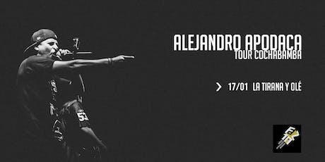 Alejandro Apodaca en Cochabamba (La Tirana) entradas