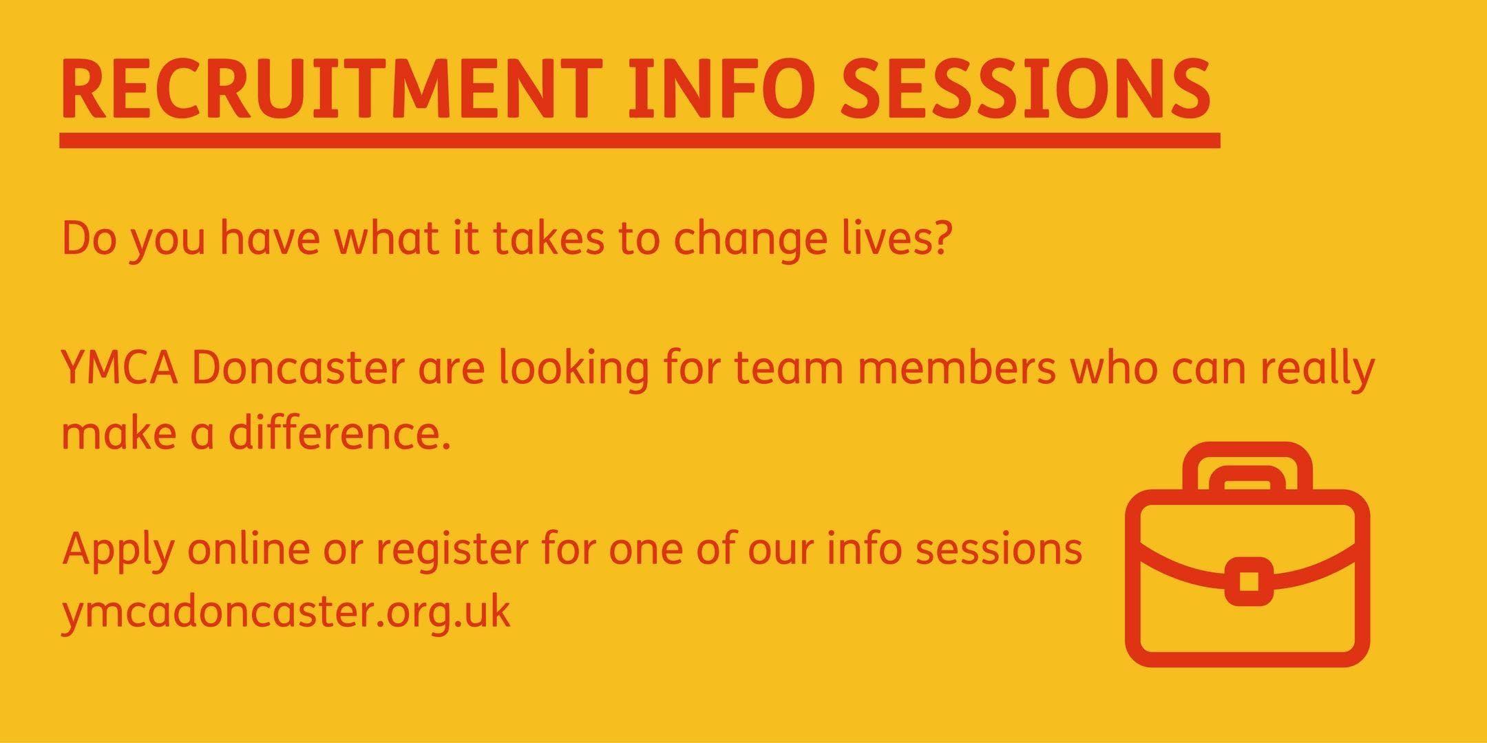 Recruitment Info Session - 4pm on Tuesday 24th September 2019