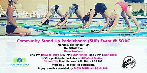 SOAC Community Paddleboard Event: SUP Yoga