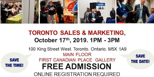 Toronto Sales & Marketing Job Fair - October 17th, 2019